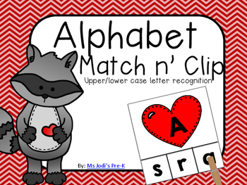 The Kissing Hand Alphabet Match n' Clip