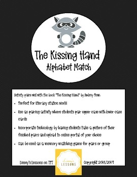 The Kissing Hand Alphabet Matching Station