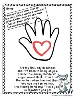 The Kissing Hand Back to School Night Pack (Editable)