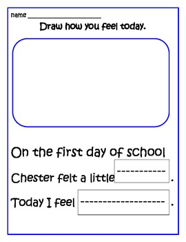 The Kissing Hand Back to School Set -10 pages