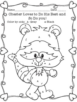 The Kissing Hand -Chester Raccoon Coloring Page by Sarah Christy