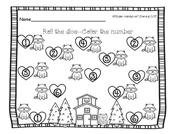 Math The Kissing Hand-Chester's Dice Roll