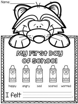 The Kissing Hand - First Day of School Craftivity