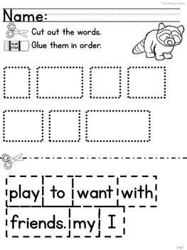 The Kissing Hand: Free Mentor Sentence Lesson for Emergent Readers (K-1)
