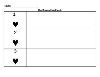 The Kissing Hand Heart Math Problems