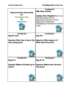 The Kissing Hand Interactive Read Aloud Cards
