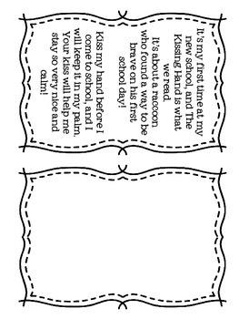 The Kissing Hand Kindergarten Orientation Packet
