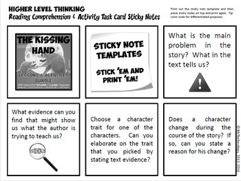 The Kissing Hand Reading Lessons & Activities w/ Interactive Notebook Activities