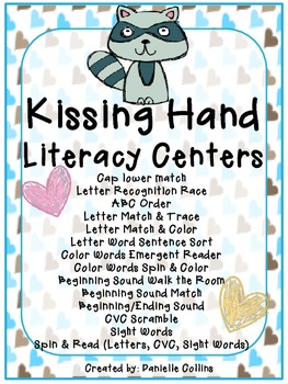 The Kissing Hand Literacy Pack (14+centers-K-1) CCSS