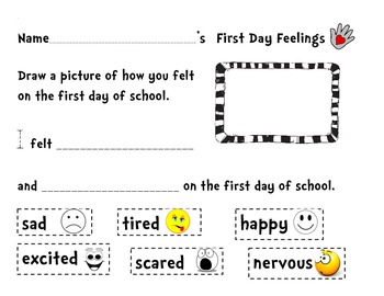 The Kissing Hand Poem/handprint/first day feelings