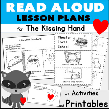 The Kissing Hand Read Aloud Lesson Plans w/ Sequencing + Comparison