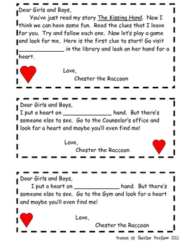 The Kissing Hand Riddles