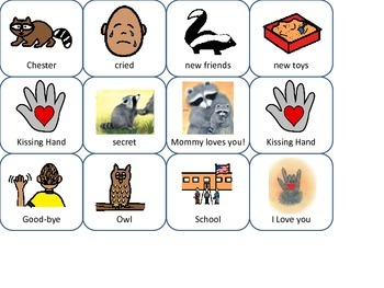The Kissing Hand Sequencing Cards