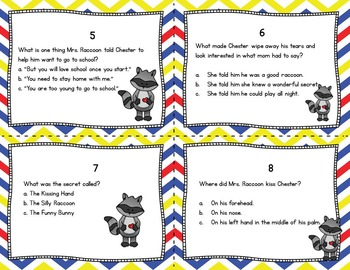 THE KISSING HAND Activities Task Cards!  (Reading Comprehension)