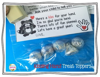 The Kissing Hand  Back to School Treat Tags