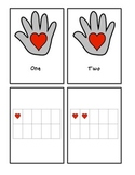The Kissing Hand (hearts) - Number Words and Ten Frame Counting #1-10