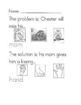 The Kissing Hand problem/solution worksheet by Accomodating to AAC