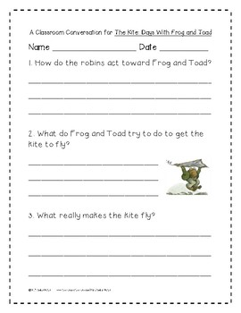 The Kite: Days With Frog and Toad 1st Grade Journeys Unit 6, Lesson 28