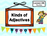 The Kite Grammar Task Cards (Journeys Lesson 28, 1st Grade) KINDS OF ADJECTIVES