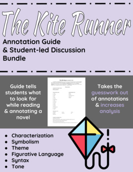 The Kite Runner Annotation Guide and Student-led Discussion Bundle
