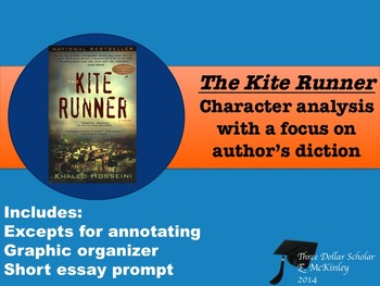 The Kite Runner-Character analysis focus author's diction,denotation/connotation