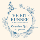 The Kite Runner Character Overview Quiz / Character Sectio