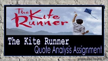 The Kite Runner: Quote Analysis Assignment