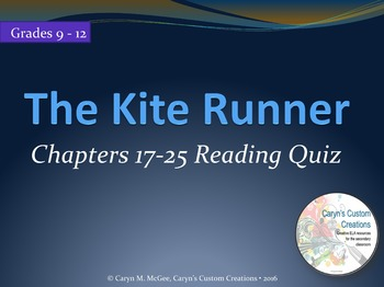 The Kite Runner Reading Quiz Ch. 17-25