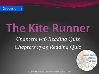 The Kite Runner Reading Quizzes