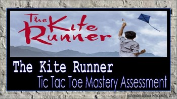 The Kite Runner: Tic Tac Toe Mastery Assessment