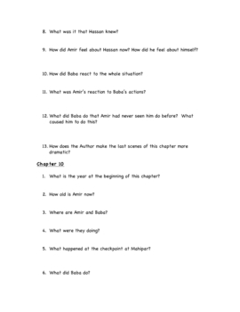 The Kite Runner by Khaled Hosseini discussion questions