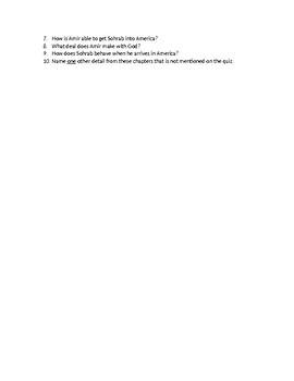The Kite Runner_Kahled Hosseini_Chapter Quizzes