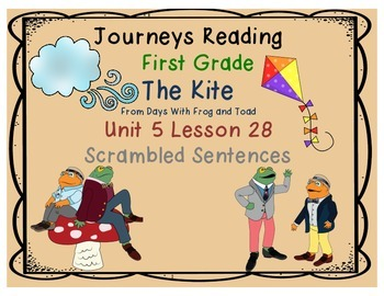 The Kite from Days With Frog & Toad Scrambled Sentences Unit  5 Lesson 28
