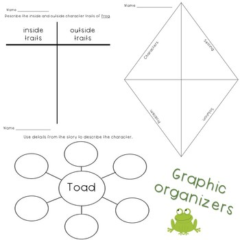 The Kite from Days with Frog and Toad Literary Worksheets and Graphic Organizers