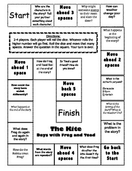 """The Kite"" from Days with Frog and Toad comprehension game board"