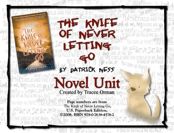 The Knife of Never Letting Go Novel Unit Bundle Common Core Aligned
