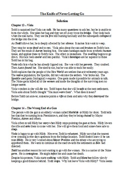 The Knife of Never Letting Go (Part 3) - Plot Summary as Cloze Test