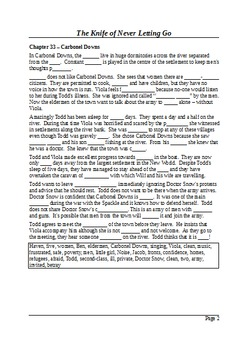 The Knife of Never Letting Go (Part 6) - Plot Summary as Cloze Test