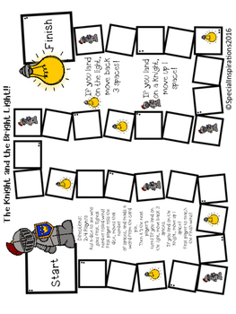 The Knight and the Bright Light! (an igh board game) Orton-Gillingham Inspired