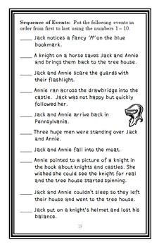 The Knight at Dawn : Magic Tree House #2 Novel Study / Reading Comprehension
