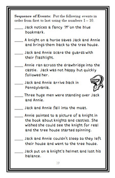 The Knight at Dawn : Magic Tree House #2 Novel Study / Comprehension (24 pages)