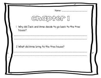 The Knight at Dawn/ Magic Tree House Comprehension Questions
