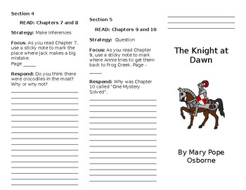 The Knight at Dawn Trifold
