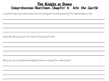 The Knight at Dawn by Mary Pope Osborne:  A Complete Literature Study!