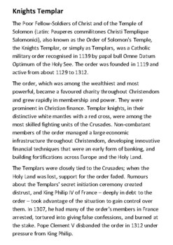 The Knights Templar Handout