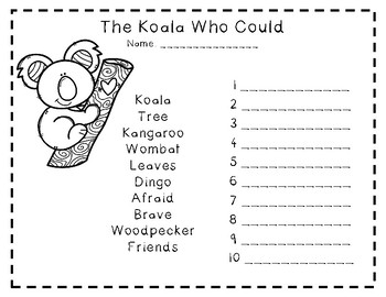 The Koala Who Could Book Activities By Emken S Creations Tpt