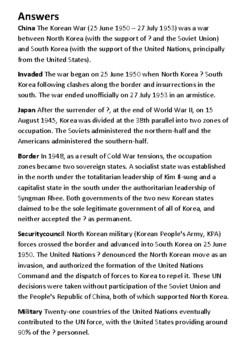 The Korean War Crossword