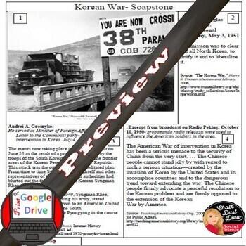 Cold War - The Korean War SOAPSTONE Primary Source Analysis Worksheet