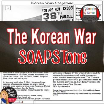 Cold War - The Korean War SOAPSTONE Primary... by Chalk Dust Diva ...