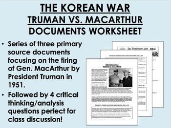 The Korean War - Truman vs. MacArthur Documents - US History/APUSH